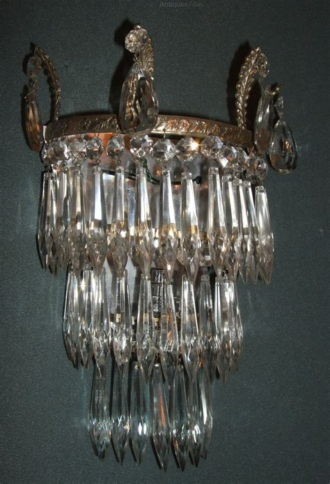 antiques atlas pair 1930s french icicle drop wall lights