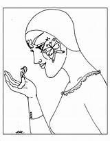 Pierrot Coloring Pages Metamorphosis sketch template