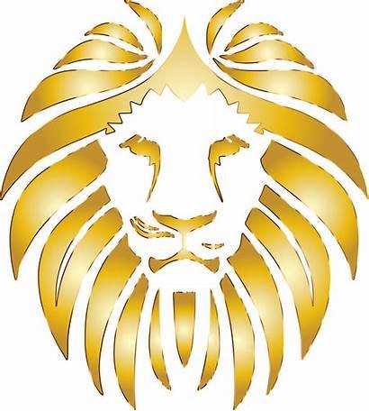 Lion Golden Clipart Background Vector Clip Transparent