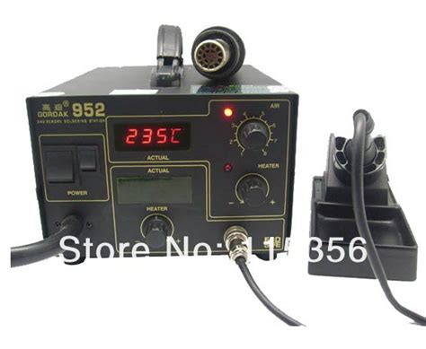 free shipping gordak 952 led displayer 2 in 1 soldering rework station solder iron smd air