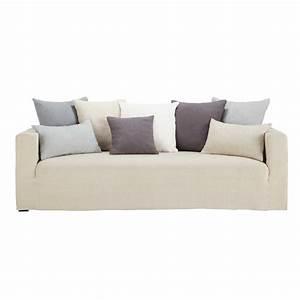 canape 4 5 places fixe lin coussins gris louvain maisons With tapis chambre bébé avec canapé le plus confortable du monde