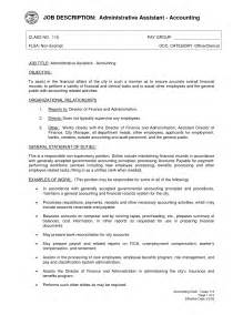 assistant resume description administrative assistant description office sle slebusinessresume