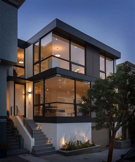 contemporary bathroom decorating ideas sleek and contemporary four level home in san francisco