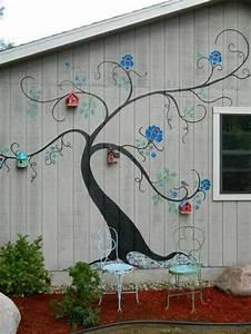 Oiseaux Decoration Exterieur : 1001 id es pour habiller un mur ext rieur murs v g taux originaux ~ Melissatoandfro.com Idées de Décoration