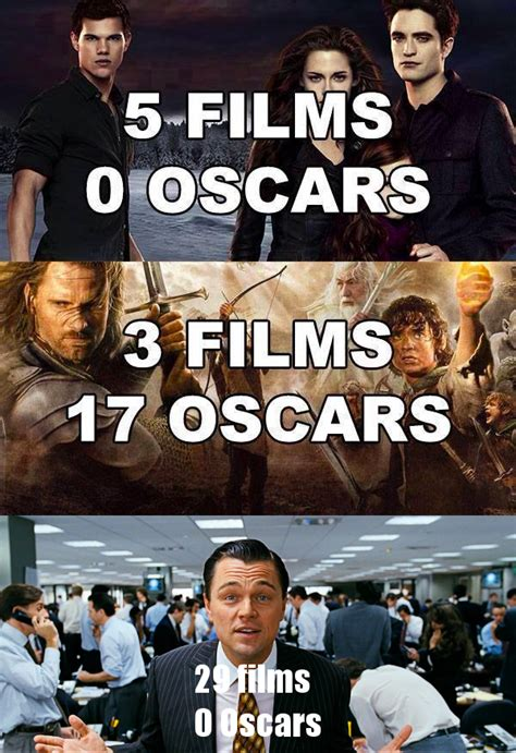 Leonardo Di Caprio Oscar Meme - 29 films leonardo dicaprio gets snubbed by oscar know your meme