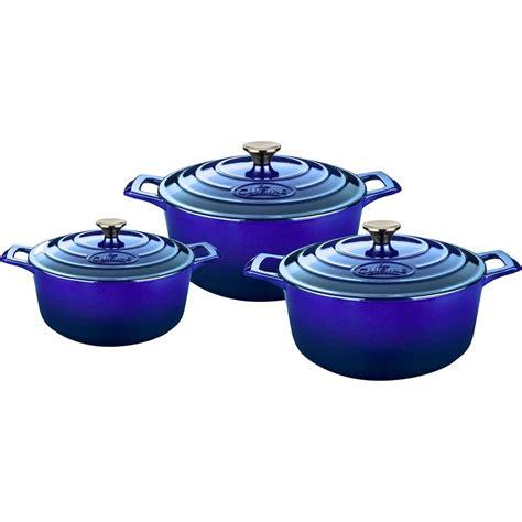 lave cuisine pro la cuisine pro 6 cast iron casserole set with