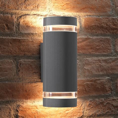 elton silver double up and down led wall light transform the outside or inside of your home