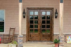 Rustic, Patio, Doors, In, Knotty, Alder, Wood