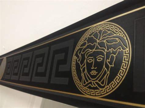 versace greek keys black gold border wallpaper mtr