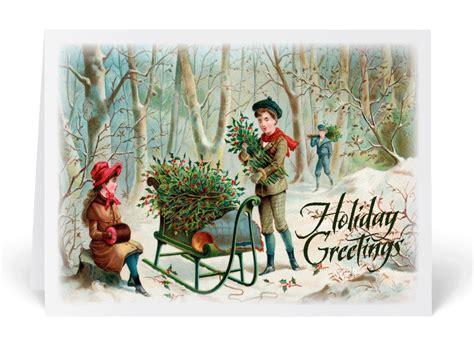Vintage Victorian Christmas Greeting Card [36053