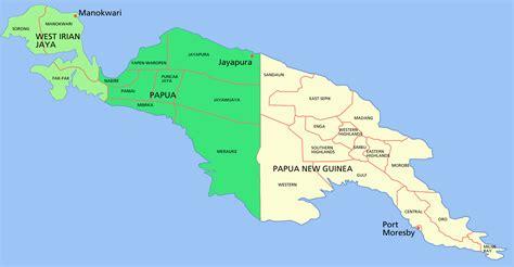 island papua  guinea map