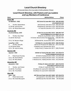 3 excel church directory templates excel xlts for Resource directory template