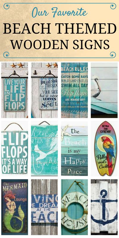check   favorite beach themed wooden signs
