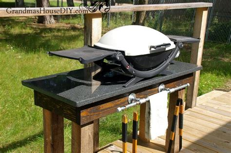build  outdoor grill station diy wood working