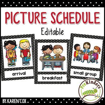 picture schedule editable pre k preschool by 812 | original 1994081 1