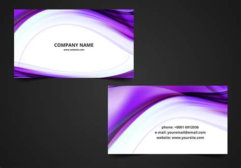 vector wavy visiting card background