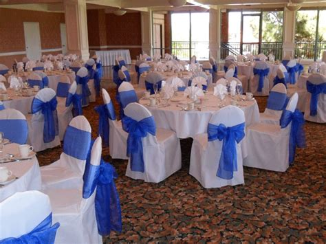 royal blue organza bows for chair covers in los angeles