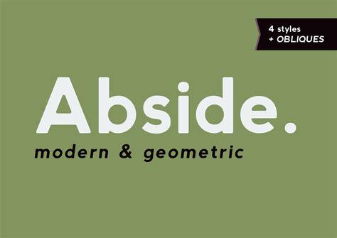 abside font modern geometric sans serif fonts on creative market
