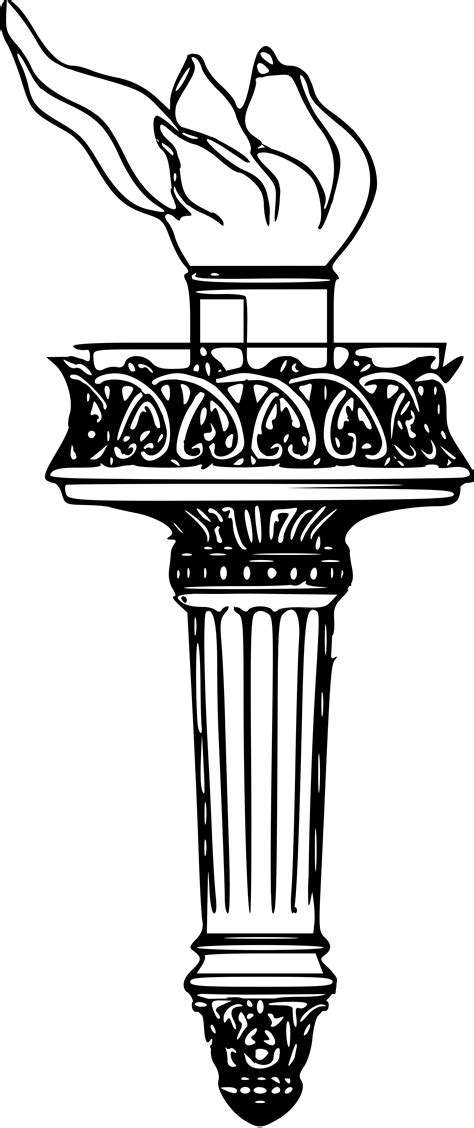 Statue Of Liberty Torch Coloring Page Coloring Pages