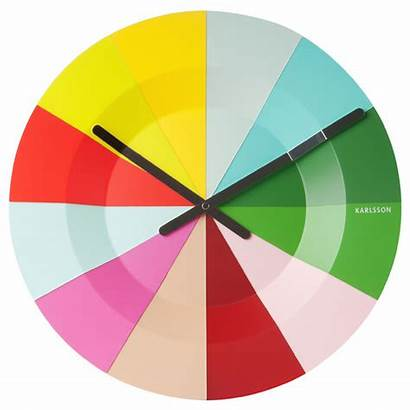 Colourful Clock Karlsson Slices Clocks Colorful Wall