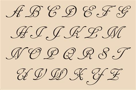 printable fancy letters 8 best images of printable fancy calligraphy alphabet