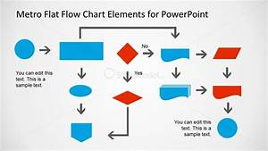 Metro Flat Flow Chart Example Slide For Powerpoint