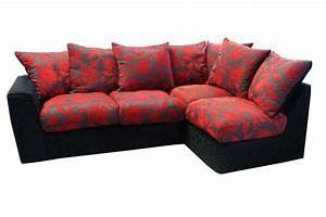 Red and black corner sofa bed infosofaco for Red and black sofa bed