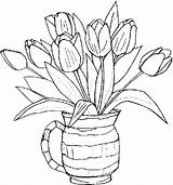 Flower Printable Coloring Pages Spring Print sketch template