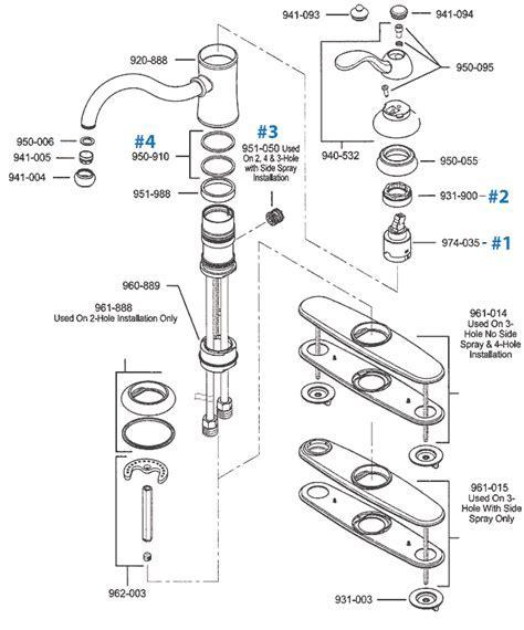 Price Pfister Kitchen Faucet Parts   Marielle Series