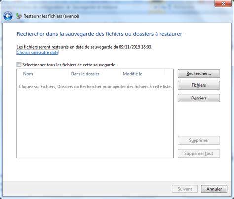 sauvegarde bureau windows 7 sauvegarde et restauration sous windows 7 bts sio