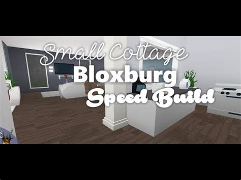 small cottage speedbuild bloxburg youtube