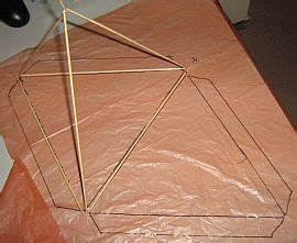 making tetrahedral kites step by step instructions for a With tetrahedron kite template