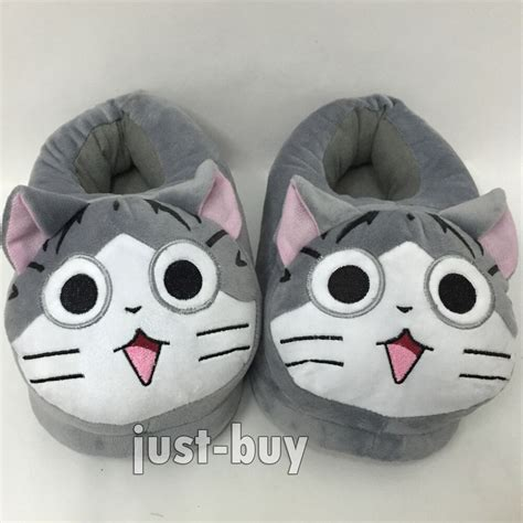 chis sweet home anime chi cat plush shoes slippers adult