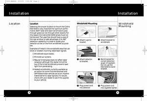 Cobra Electronics Esd9201 Radar Detector User Manual Manual