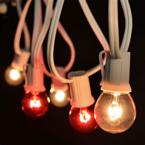 c9 clear christmas lights 25 39 commercial red clear globe light strand white c9 strand