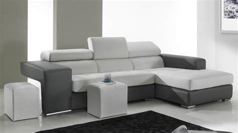 canapé d angle cuir noir et blanc canape angle cuir blanc angle cuir blanc photo 9 15 ici