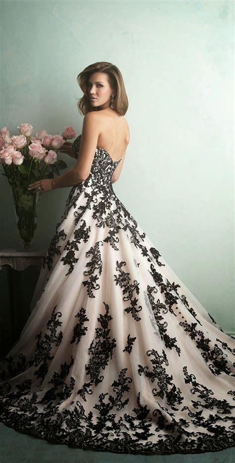 robe de mariage noir et blanche 25 best ideas about black wedding dresses on