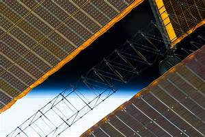 Earth's Horizon and Solar Array Panels | NASA