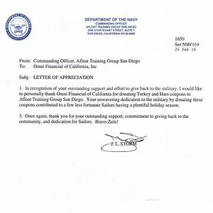 omni military loansr in san diego ca With navy letter of appreciation template