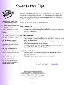 Tips On Cover Letters Cover Letter 13348 7