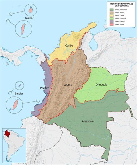 file mapa de colombia regiones naturales svg wikimedia commons