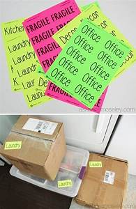 33 helpful moving tips and tricks that everyone should With colored labels for moving boxes