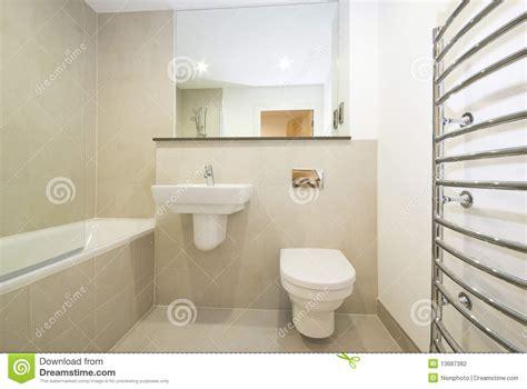modern en suie bathroom  beige stock photography image
