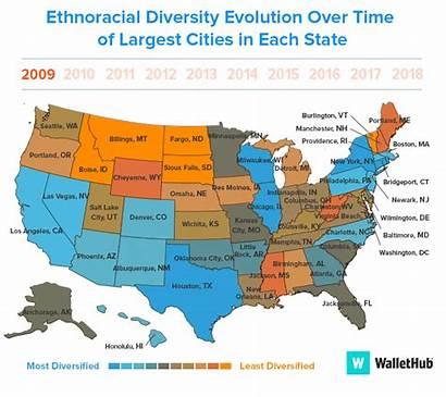 Cities Most Ethnic Least Makeup Diversity Diverse