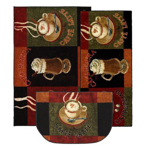 mohawk home  wave  piece kitchen caffe latte area rug