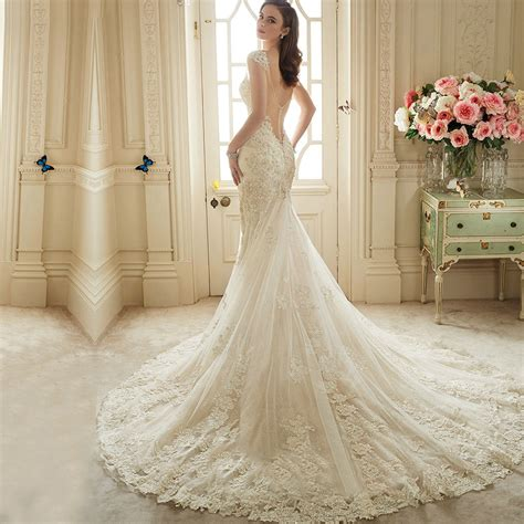 backless wedding dress lace vestido de noiva renda 2016 vintage lace backless wedding