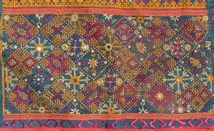 Tribal Rugs by Excellent Old Indian Embroidered Textile From The Thar
