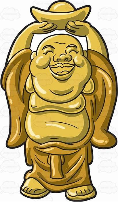 Buddha Clipart Drawing Cartoon Vector Laughing Animated