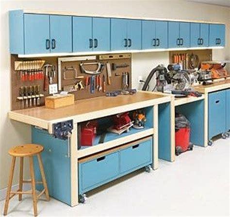 workshop storage ideas workbenches  garage workshop