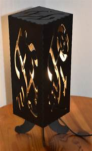 Lampe Mit Buchstaben : tischstehlampe mit individuellem muster projektvorstellungen fablab l beck community ~ Watch28wear.com Haus und Dekorationen